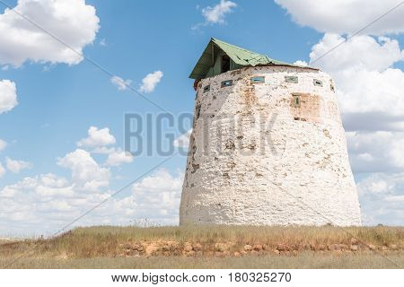 A blockhouse from the Boer War 1899 - 1902 in Noupoort a small town in the Northern Cape Province of South Africa