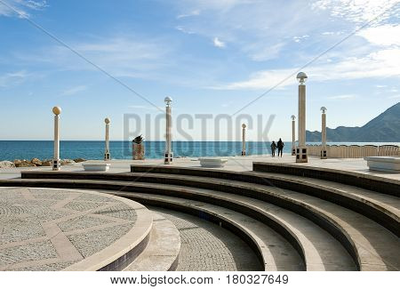 sunny seaside resort on the Costa Blanca, Altea, Spain