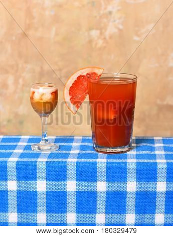 Freshness Tropical Cocktail With Alcohol Shot