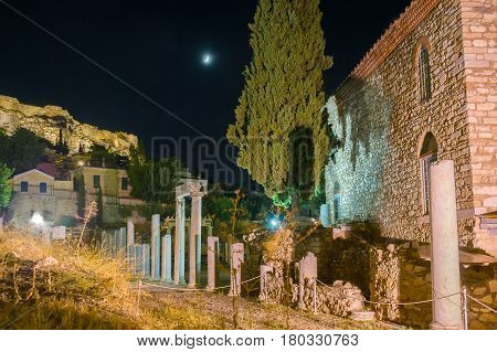 The Ruins Under The Moon