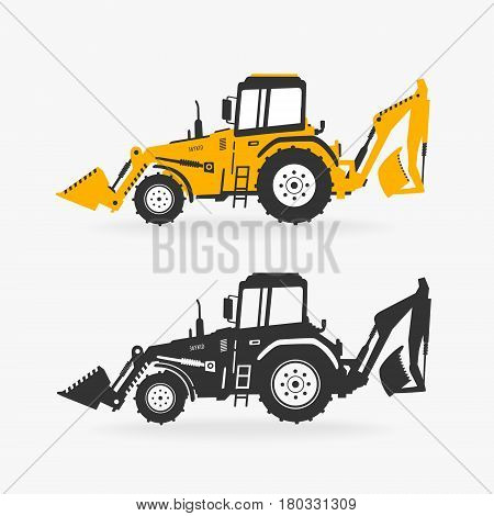 Vector Illustration Excavator eps 8 file format