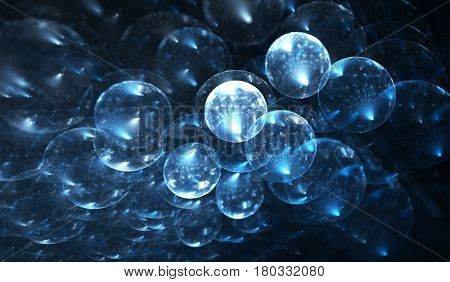 Molecular structure atoms. Molecules elements on the subject of science education biology chemistry and technology. 3D illustration