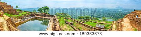 Panorama Of The Upper Palace Of Sigiriya
