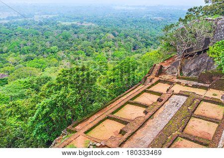 The Ruins Of Sigiriya Fortress