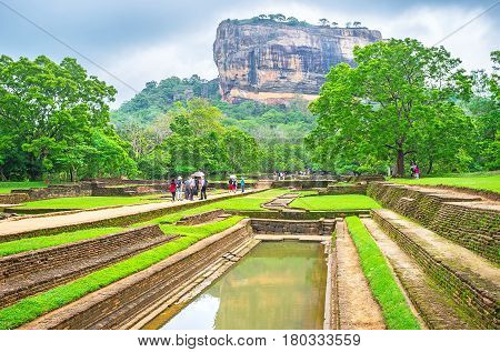 Sigiriya Rock From Water Gardens