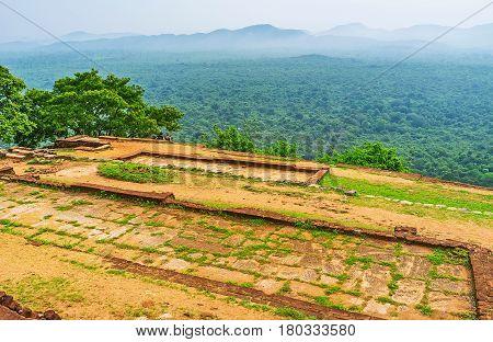 The Flat Sigiriya Rock