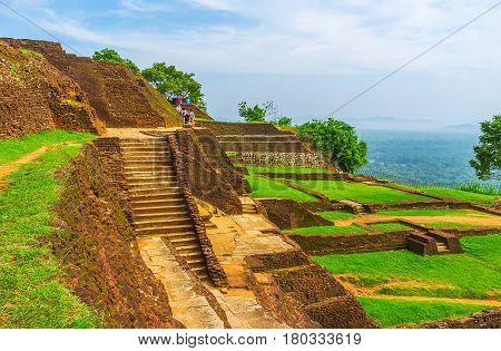 The Walk Along Sigiriya Ruins