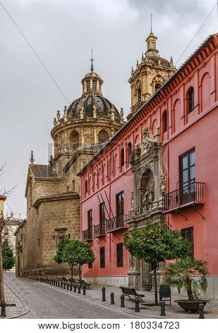 The Royal College of Saint Bartholomew and Church of Santos Justo in Granada Spain