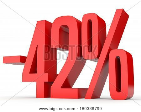 Minus Forty Two Percent. Discount 42 %.