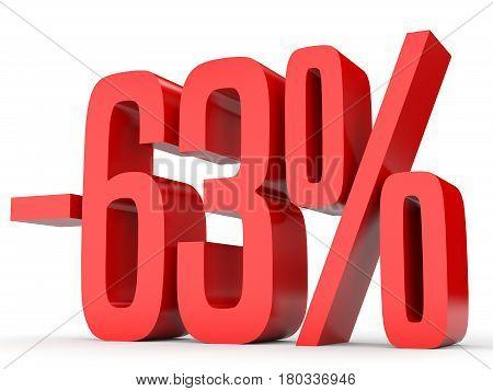 Minus Sixty Three Percent. Discount 63 %.