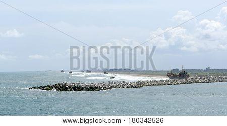 town of lagos Harbour in nigeria africa