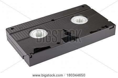 Old VHS Video cassette on white background