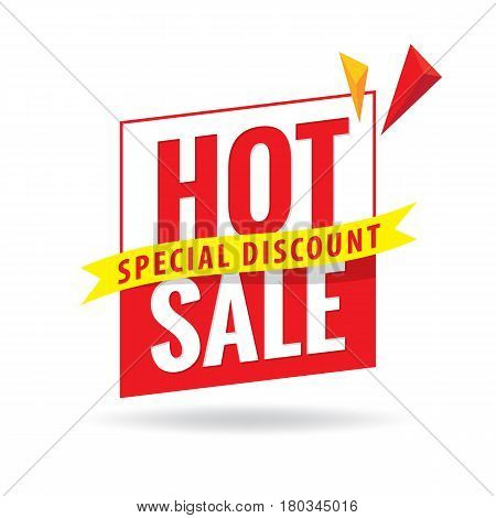 Hot Sale Heading Design For Banner Or Poster. Sale And Discounts. Vector Illustration