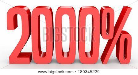 Two Thousand Percent. 2000 %. 3D Illustration.