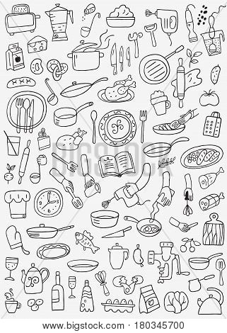 cookery , food - vector icons collection , design elements