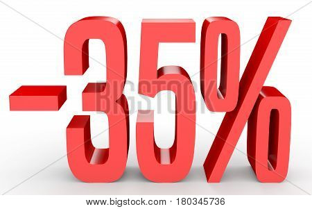 Minus Thirty Five Percent. Discount 35 %.