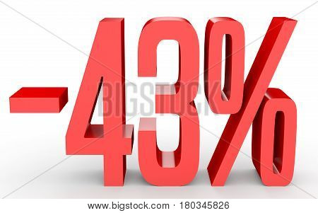 Minus Forty Three Percent. Discount 43 %.