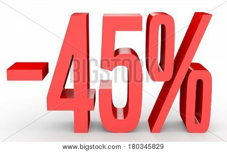 Minus Forty Five Percent. Discount 45 %.
