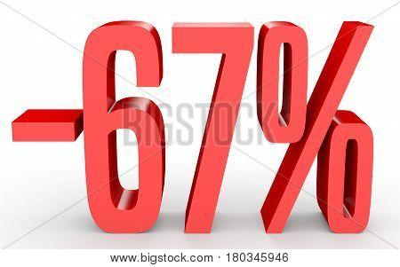 Minus Sixty Seven Percent. Discount 67 %.