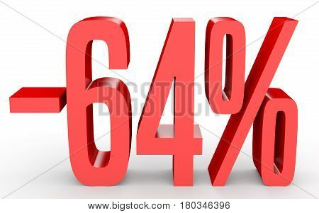 Minus Sixty Four Percent. Discount 64 %.