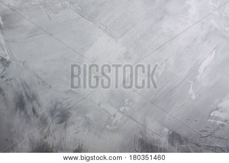 Grey concrete wall background texture. Horizontal orientation place for copyspace.
