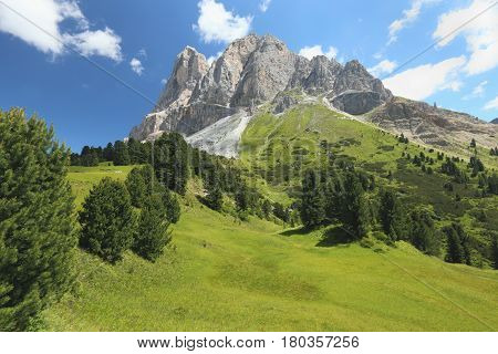 Dolomites, view of the Alpine landscape, Italy