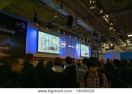 Hannover, Germany - March 5: Stand Of The Intel On March 5, 2011 In Cebit Computer Expo, Hannover, G