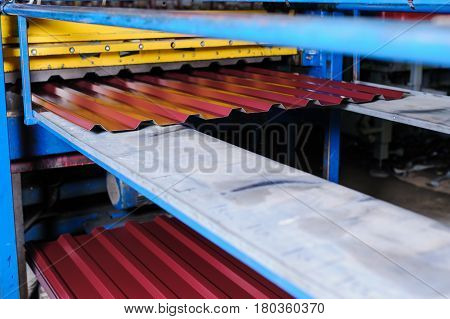 Metal Tile Manufacturing Factory.