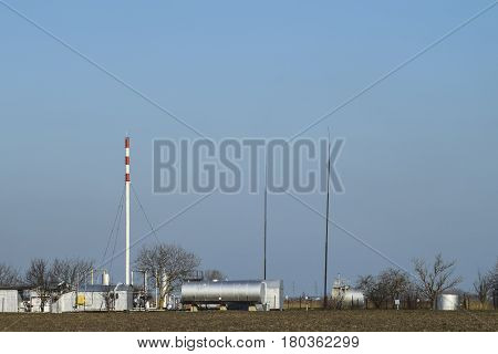 Separation Station For Oil And Gas Treatment. Oil And Gas Equipment.