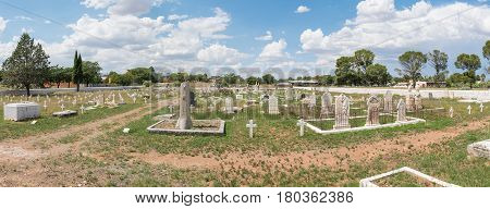 MIDDELBURG SOUTH AFRICA - MARCH 21 2017: Historic graves in Middelburg a town in the Eastern Cape Province
