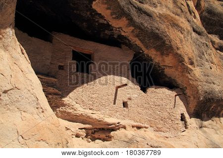 Ancient Mogollon Ruins at Gila Cliff Dwellings National Monument in the Gila National Forest, New Mexico