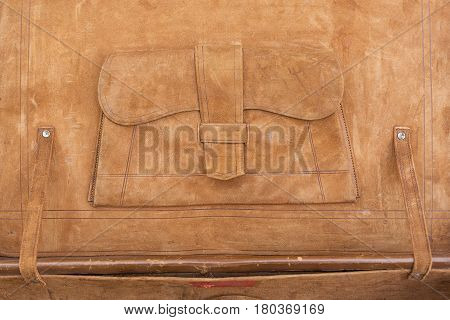 Leather Suitcase Interior