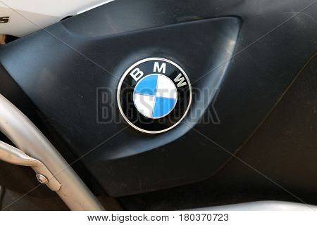 Badge Of Bmw Motorcycle At Yearly Mass Ride