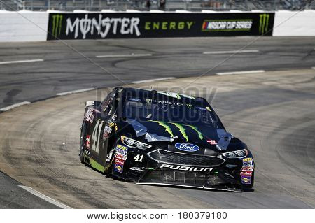 April 02, 2017 - Martinsville, Virginia, USA: Kurt Busch (41) races his damaged Monster Energy Ford during the STP 500 at Martinsville Speedway in Martinsville, Virginia.