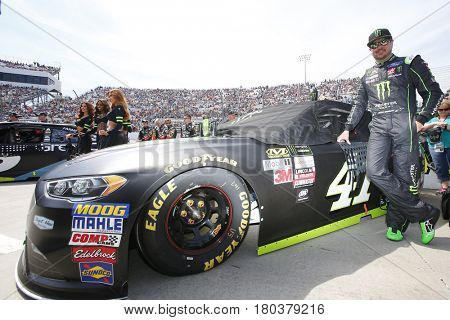 April 02, 2017 - Martinsville, Virginia , USA: Kurt Busch (41) poses by his car before the start of the STP 500 at Martinsville Speedway in Martinsville, Virginia .