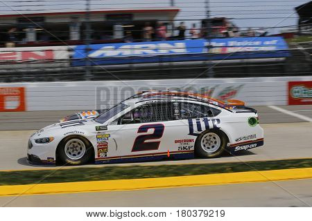 April 02, 2017 - Martinsville, Virginia , USA: Brad Keselowski (2) brings his race car through the turns during the STP 500 race at the Martinsville Speedway in Martinsville, Virginia .