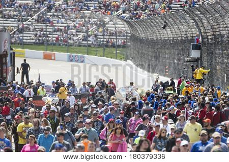 April 02, 2017 - Martinsville, Virginia, USA:  Fans crowd into the Martinsville Speedway to see the STP 500 in Martinsville, Virginia.