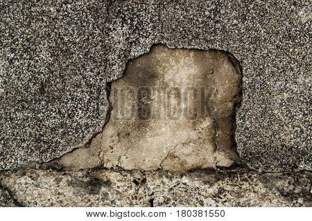 Concrete, concrete covered with old plaster. Concrete background, concrete texture. Grunge background.