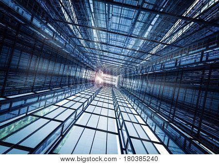 3d rendering highrise office building abstract background