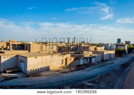 Mud Houses In Khiva Old Town, Uzbekistan