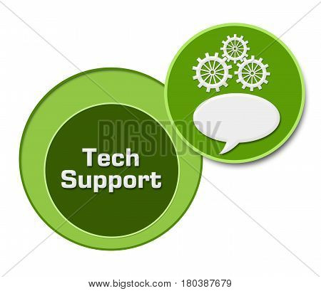 Tech support concept image with text and related symbol.