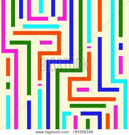 Modern style abstraction with composition Modish style abstract background with colorful  shapes. Vector illustration.
