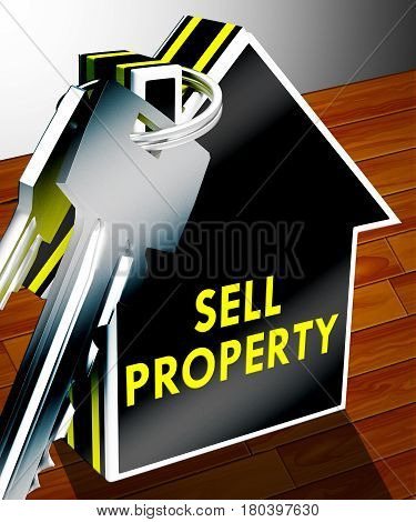 Sell Property Meaning House Sales 3D Rendering