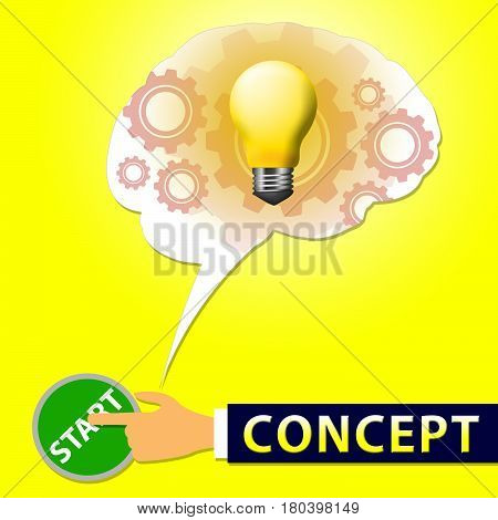 Concept Light Means Ideas Theory 3D Illustration