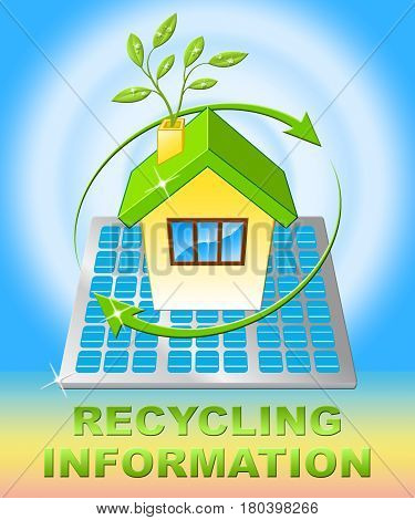 Recycling Information Displays Earth Friendly 3D Illustration