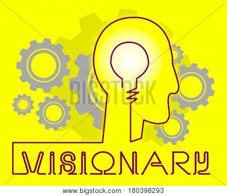 Visionary Brain Representing Insights Strategist And Ideals