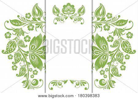 Green eco floral background, foliage wallpaper decoration, vector illustration. Trendy color 2017