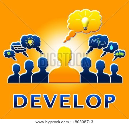 Develop People Meaning Growth Progress 3D Illustration