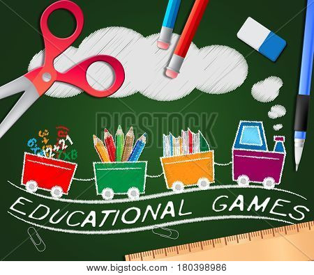 Educational Games Meaning Learning Game 3D Illustration