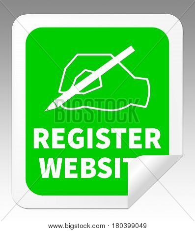Register Website Indicating Domain Application 3D Illustration